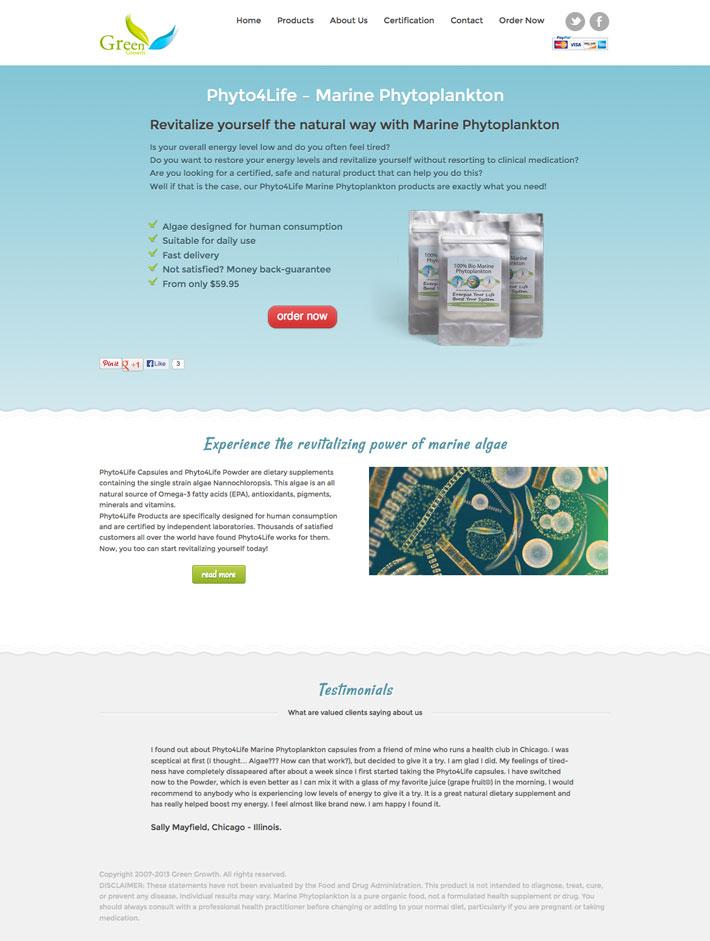 Phyto4Life - Marine Phytoplankton website