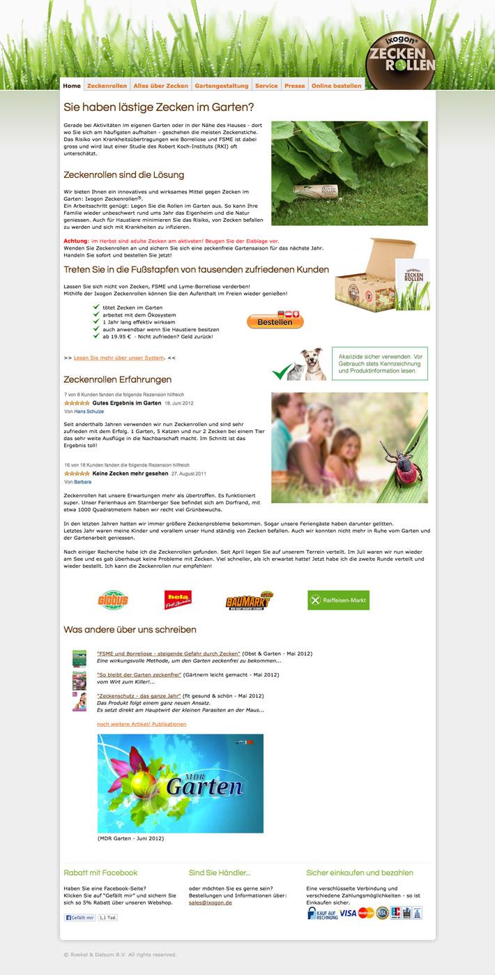 ixogon zeckenrollen website